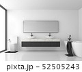 Minimal bathroom with black and white 3d render 52505243