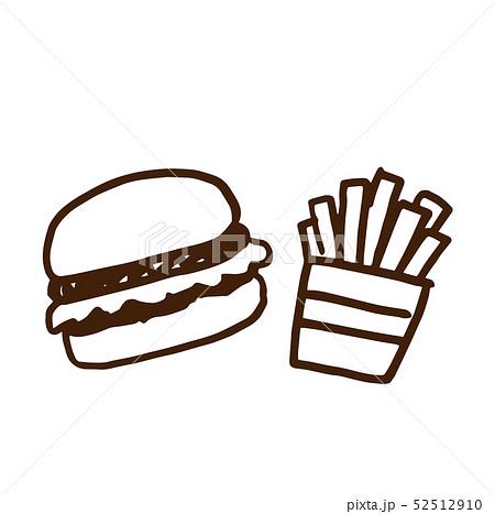 ハンバーガーとポテト 52512910