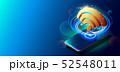 Creative Vector Illustration of WiFi 5G Network Wireless Technology Vector Illustration. 52548011