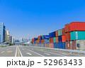 品川ふ頭_国際貨物コンテナ 52963433