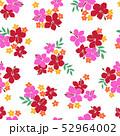 植物 花 ハイビスカスのイラスト 52964002