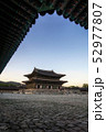 gyeongbokgung palace at sunset 52977807