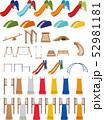 すべり台と木製遊具 52981181