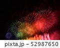 暑い 祭り 花火の写真 52987650