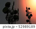 5G Telecommunication Tower in Sunset Sunrise 3D Il 52989189