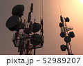 5G Telecommunication Tower in Sunset Sunrise 3D Il 52989207
