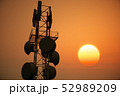 5G Telecommunication Tower in Sunset Sunrise 3D Il 52989209