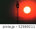 5G Telecommunication Tower in Sunset Sunrise 3D Il 52989211