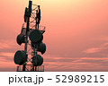 5G Telecommunication Tower in Sunset Sunrise 3D Il 52989215