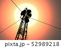 5G Telecommunication Tower in Sunset Sunrise 3D Il 52989218