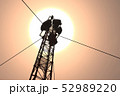 5G Telecommunication Tower in Sunset Sunrise 3D Il 52989220