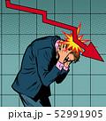 パニック 恐慌 ビジネスマンのイラスト 52991905