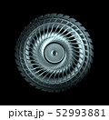 Industrial Steel Wheel With Blades Isolated 52993881