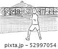 テニスの練習風景 52997054