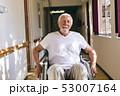 Senior male patient sitting in wheelchair  53007164