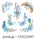 Tribal Vignette Forest Wreath Design Elements Set 53022697
