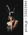 Sexy girl in a black bunny mask 53023944