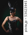 Sexy girl in a black bunny mask 53023945