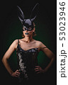 Sexy girl in a black bunny mask 53023946