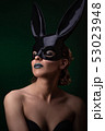 Sexy girl in a black bunny mask 53023948