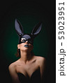Sexy girl in a black bunny mask 53023951