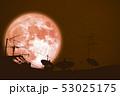 full buck moon planet back silhouette Satellite 53025175