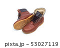 Male brown leather boot, footwear fashion isolated 53027119