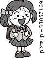 小学校入学式女の子 53057169