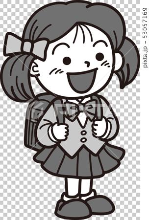 Elementary school entrance ceremony girl 53057169