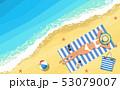 ビーチ 浜辺 ビキニのイラスト 53079007