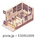 Vector isometric small coffeehouse 53091009