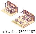 Vector isometric food court coffee kiosk 53091167