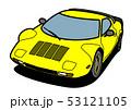イタリアンヒストリッククーペ 黄色 自動車イラスト 53121105