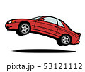 懐かしめ国産スポーツカー  ジャンプ 赤色 自動車イラスト 53121112