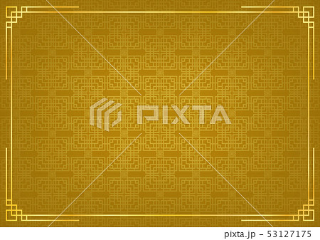 golden chinese square abstract backgroud with 53127175
