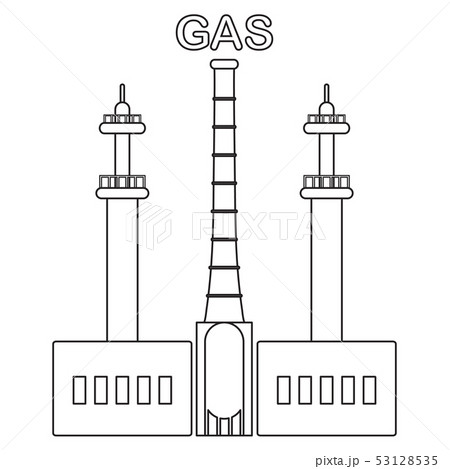 Gas processing plant Industrial theme. 53128535