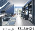空間 部屋 ベッドのイラスト 53130424