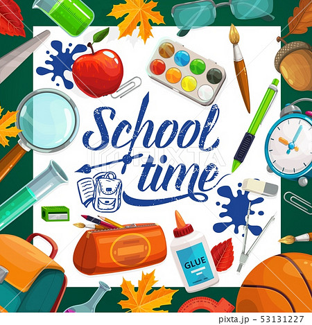 Educational supplies vector welcome back to school 53131227