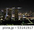 シンガポール夜景 ドローン空撮4 53141917