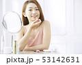 女性 口紅 塗るの写真 53142631