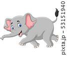 Cartoon elephant isolated on white background 53151940