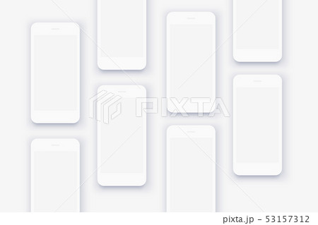 The background of the mockups of white smartphones 53157312