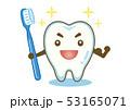 歯ブラシ 歯 キャラクターのイラスト 53165071