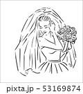花束 ブライダル 新婦のイラスト 53169874