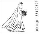 花束 新婦 花嫁のイラスト 53170397