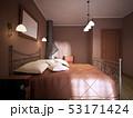 ダーク 暗い ベッドのイラスト 53171424
