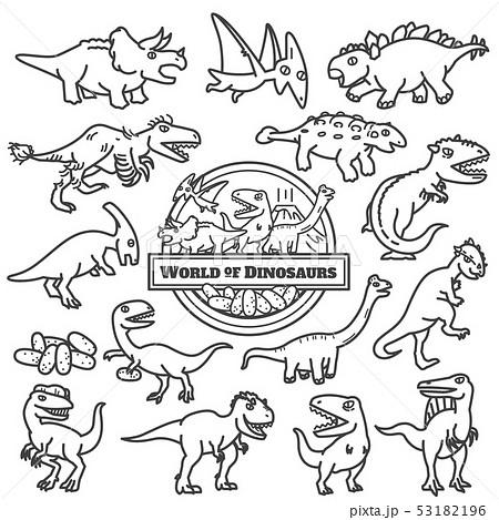 World of Dinosaurs design. Vector illustration 53182196