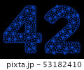 Bright Mesh Network 42 Digits Text with Flare Spots 53182410