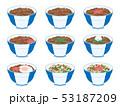 牛丼のイラストセット 53187209