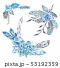 Tribal Vignette Forest Wreath Design Elements Set 53192359